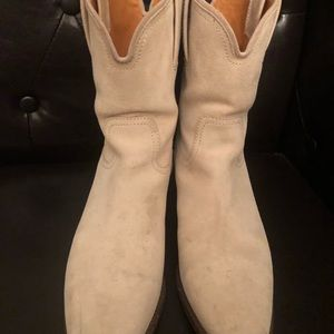 de20e3619 Gucci Shoes | Used Suede Authentic Cowgirl Boots | Poshmark